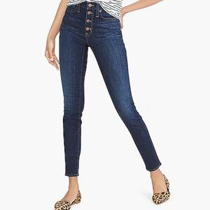 "J Crew 9"" high-rise skinny jean in dark wash"